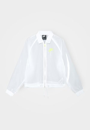 AIR SHEEN - Summer jacket - white/volt