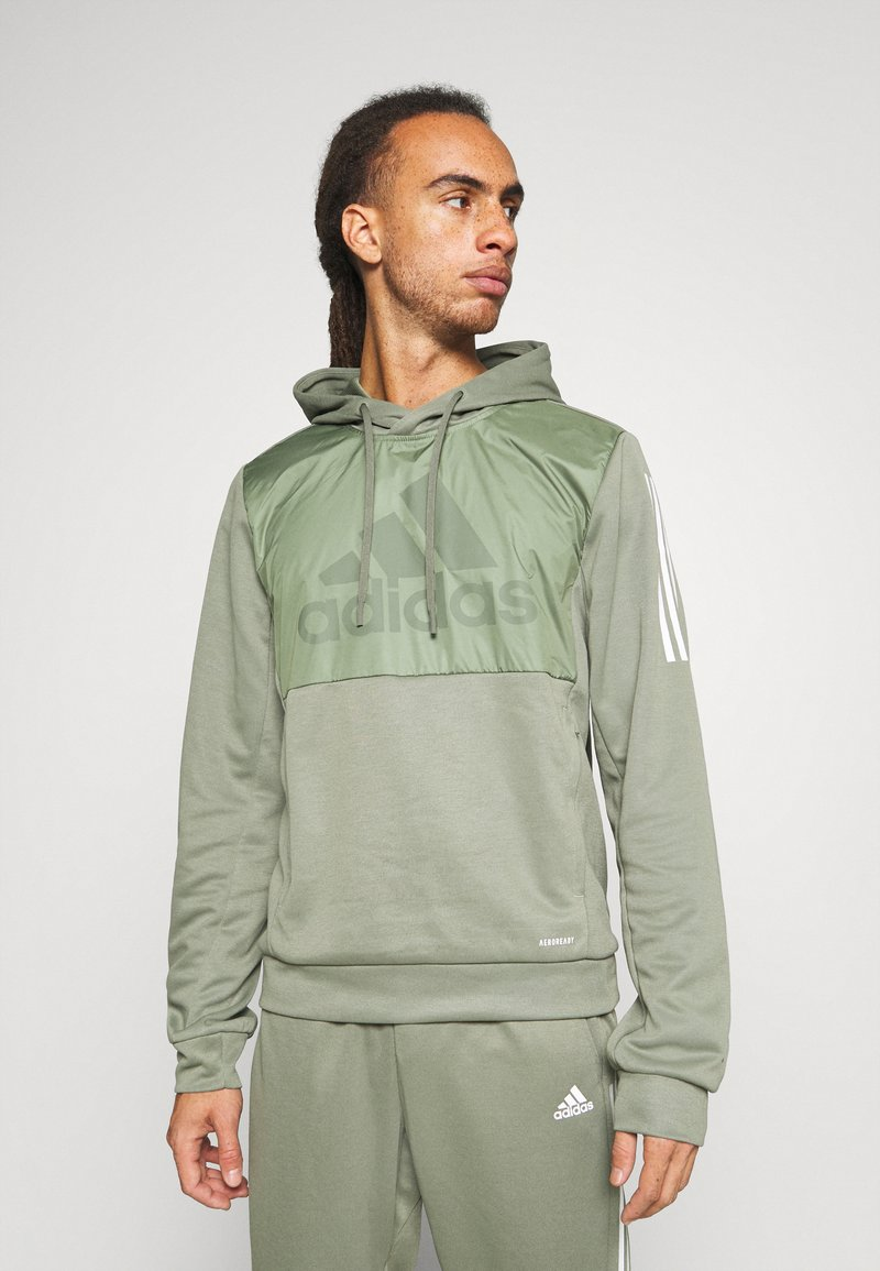 adidas Performance - MUST HAVES AEROREADY  - Hoodie - leggrn