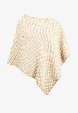 BICOLOR - Poncho - beige/white