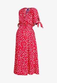 Seraphine - BESSIE MIDI WRAP DRESS - Denní šaty - red - 3