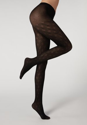 Tights - black cashmere weaves