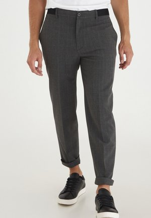 PEDER - Trousers - anthracite black