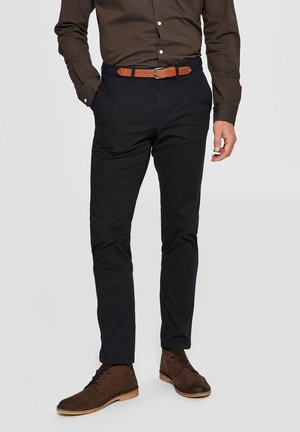 SLHYARD SLIM FIT  - Chinosy - black
