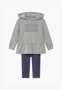 Levi's® - PEPLUM HOODIE SET - Hoodie - mottled grey/dark blue - 0