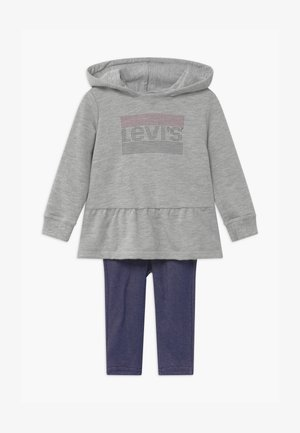 PEPLUM HOODIE SET - Felpa con cappuccio - mottled grey/dark blue