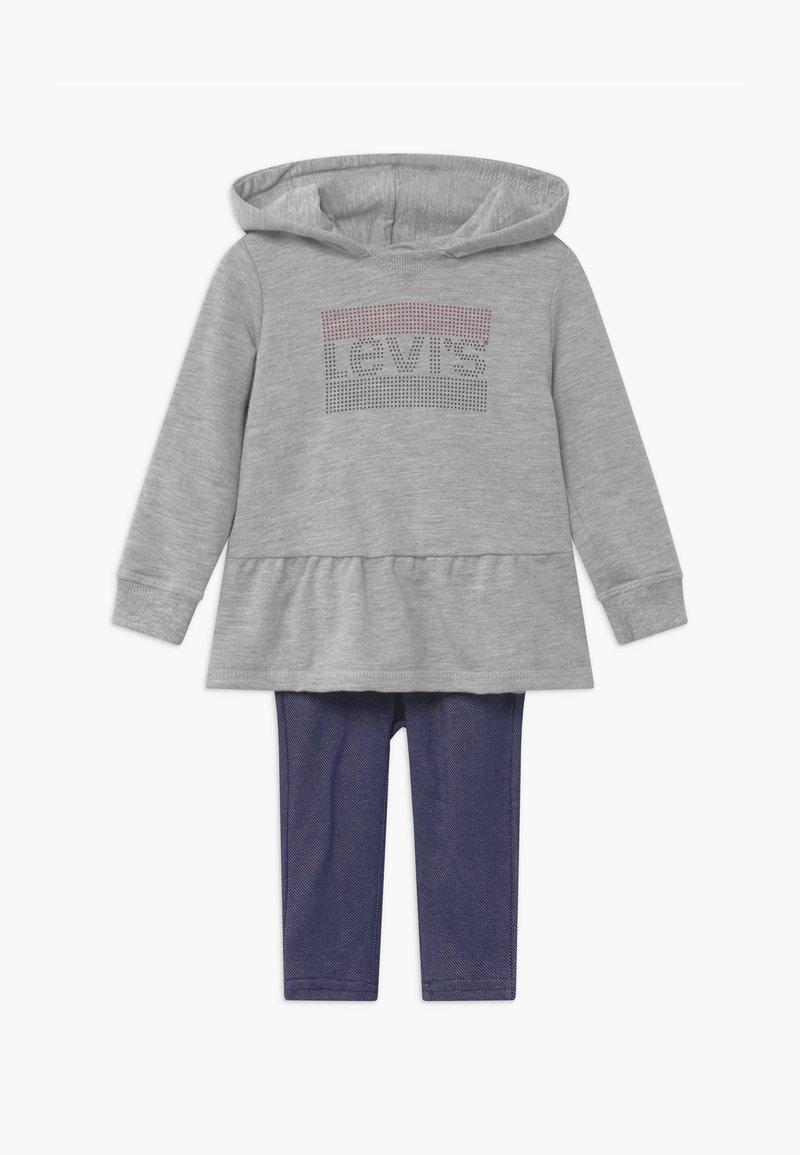 Levi's® - PEPLUM HOODIE SET - Hoodie - mottled grey/dark blue