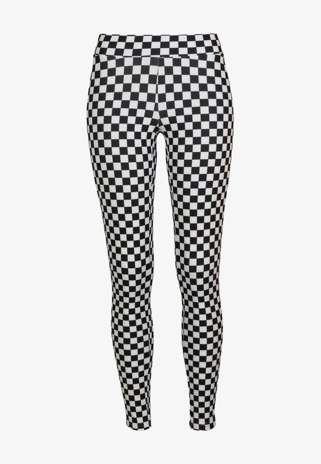 DAMEN  - Legging - black/white