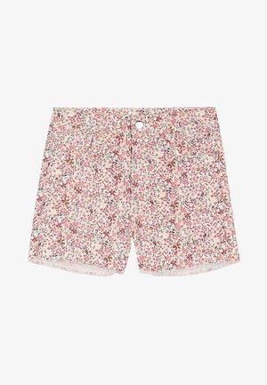 JEANSSHORTS MIT HOHEM BUND - Denim shorts - bianco st.microflower
