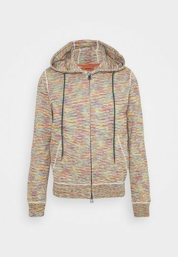 CARDIGAN - Sweater met rits - beige/multi-coloured