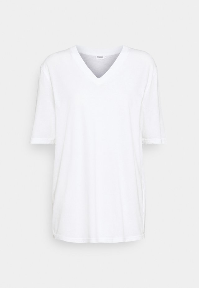 MATILDA V NECK TEE - T-shirt basic - white