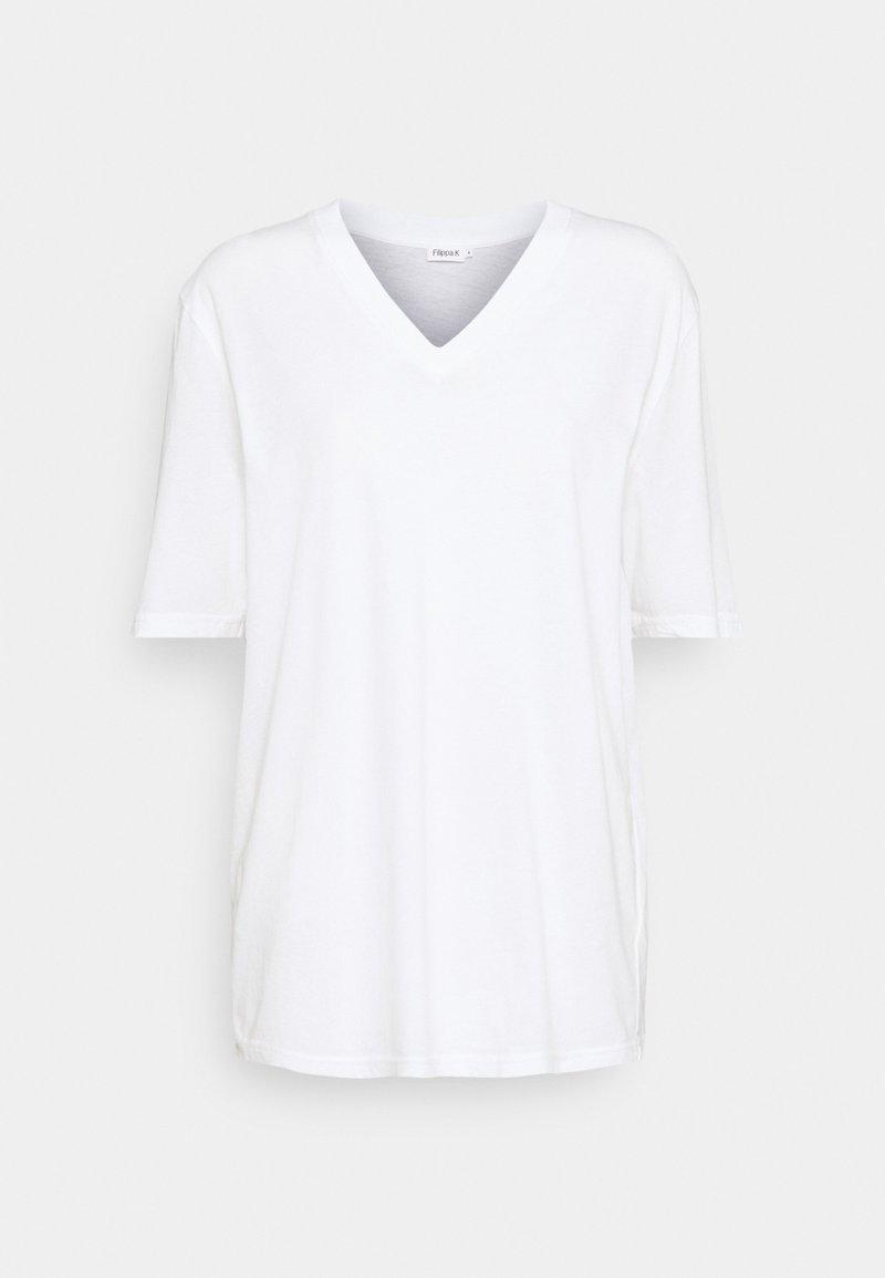 Filippa K - MATILDA VNECK TEE - Jednoduché triko - white