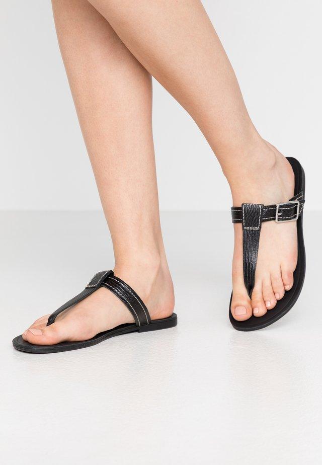 TIA - Sandalias de dedo - black