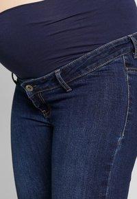 ohma! - BERMUDA WITH HIGH BELLY - Shorts - dark indigo - 4