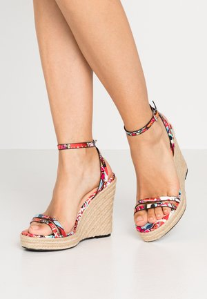 Sandalen met hoge hak - multicolor