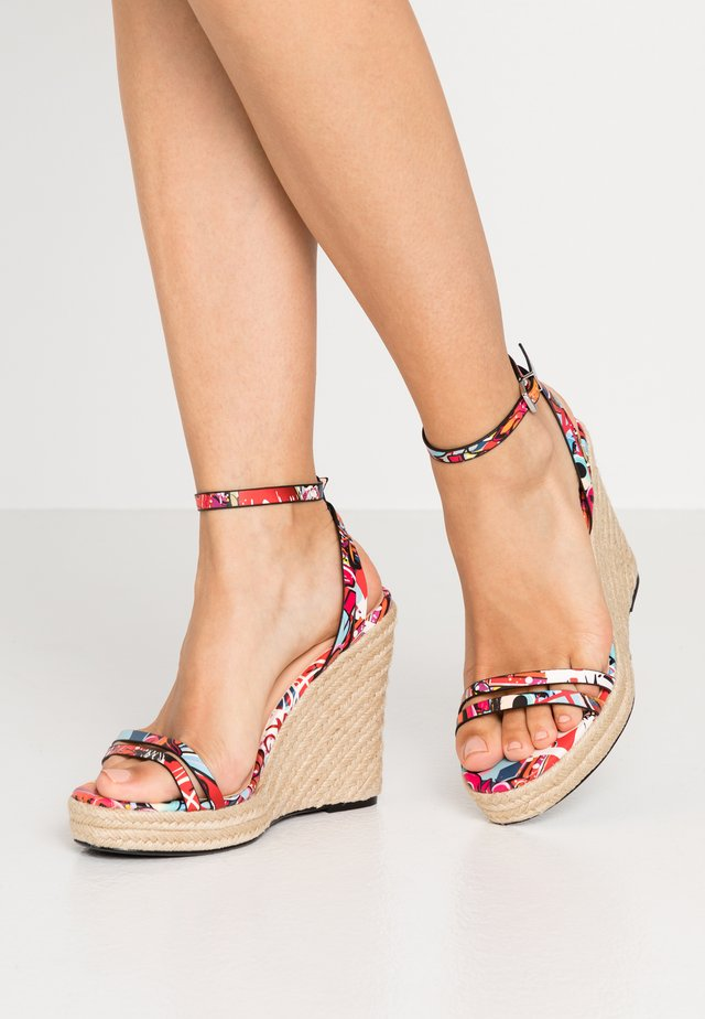 High heeled sandals - multicolor