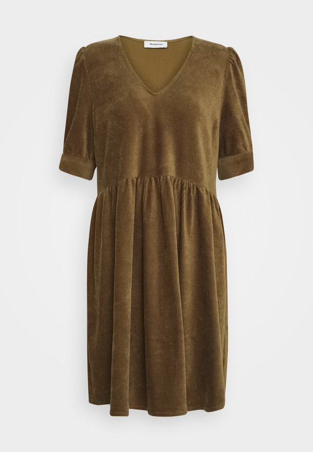 FREYA DRESS - Day dress - bronze