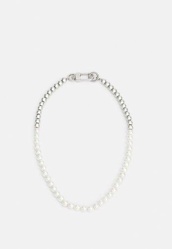 AKOYA UNISEX - Necklace - silver-coloured/white