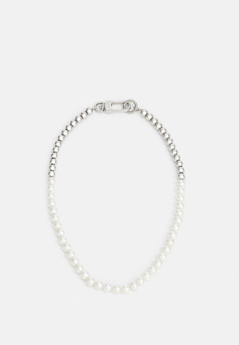 Vitaly - AKOYA UNISEX - Necklace - silver-coloured/white