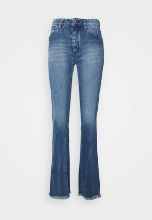 NABO - Flared Jeans - authentic blue denim