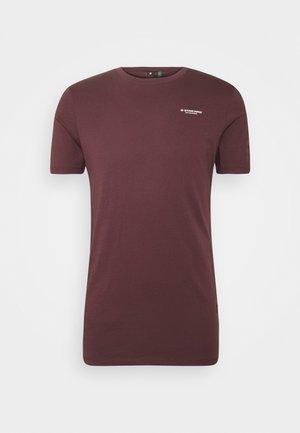 TEXT GR SLIM R T S\S - T-shirt con stampa - dark fig