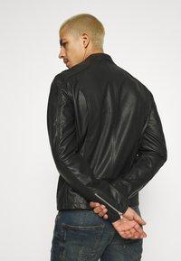 Only & Sons - ONSDEAN JACKET - Leather jacket - black - 2