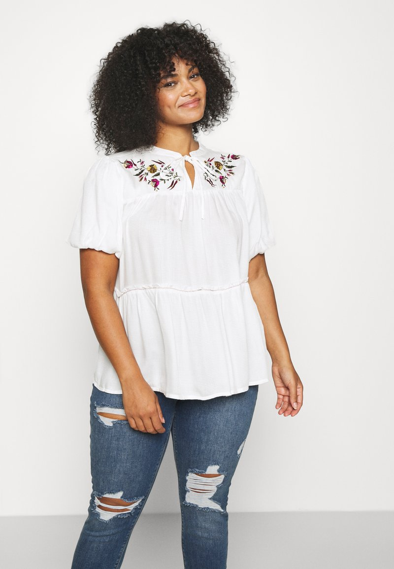 Simply Be - PUFF SLEEVE - Blouse - ivory