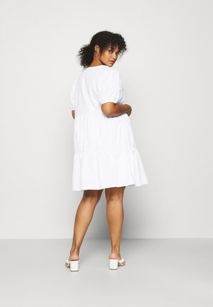 WIDE COLLAR MINI DRESS - Freizeitkleid - white