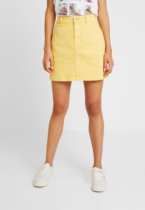 ULTRA HIGH RISE SKIRT - Denim skirt - yellow