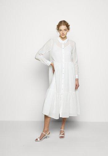 KATHIS GANA DRESS - Shirt dress - snow white