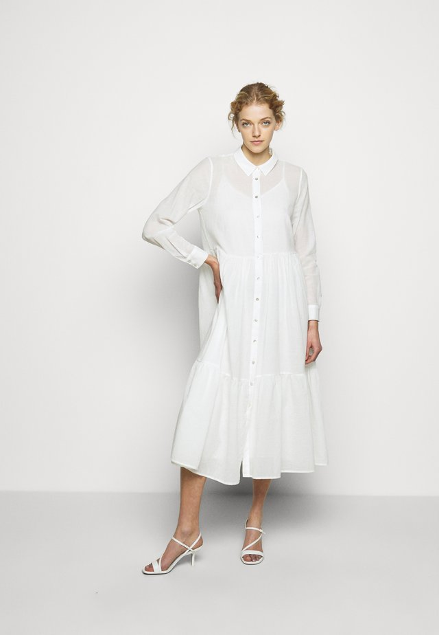 KATHIS GANA DRESS - Shirt dress - snow white