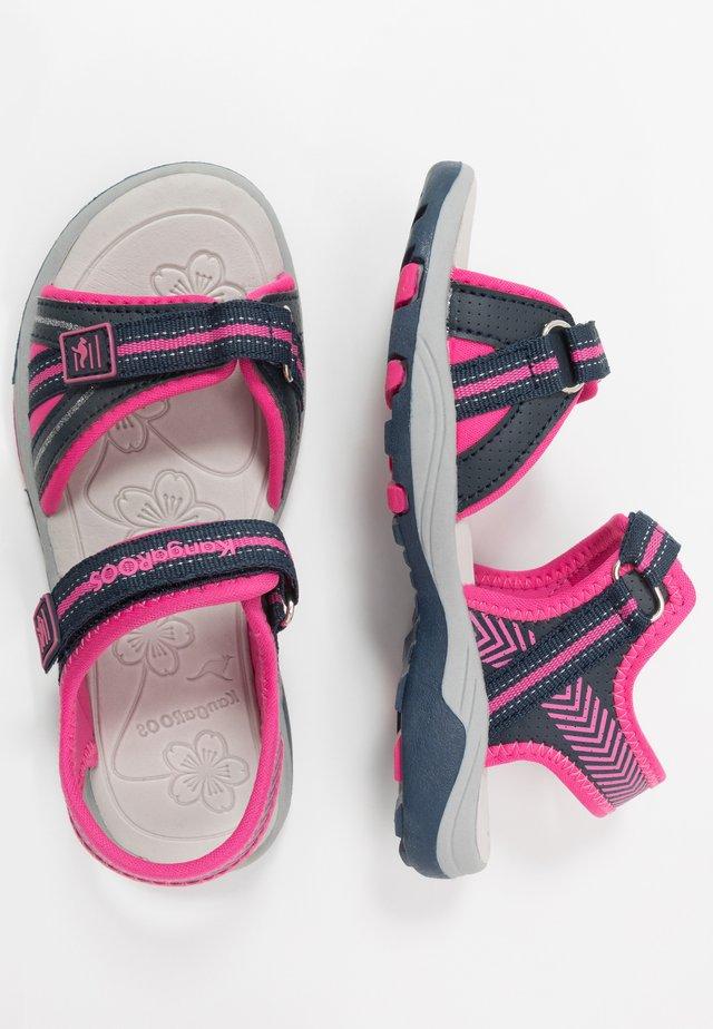 K-LANE - Sandales de randonnée - dark navy/daisy pink