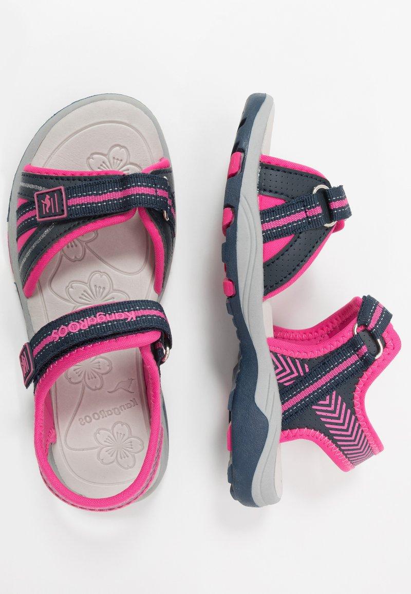 KangaROOS - K-LANE - Walking sandals - dark navy/daisy pink