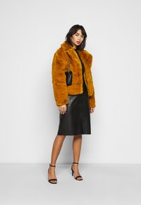 Missguided Petite - SHORT COLLAR COAT - Winter jacket - camel - 1
