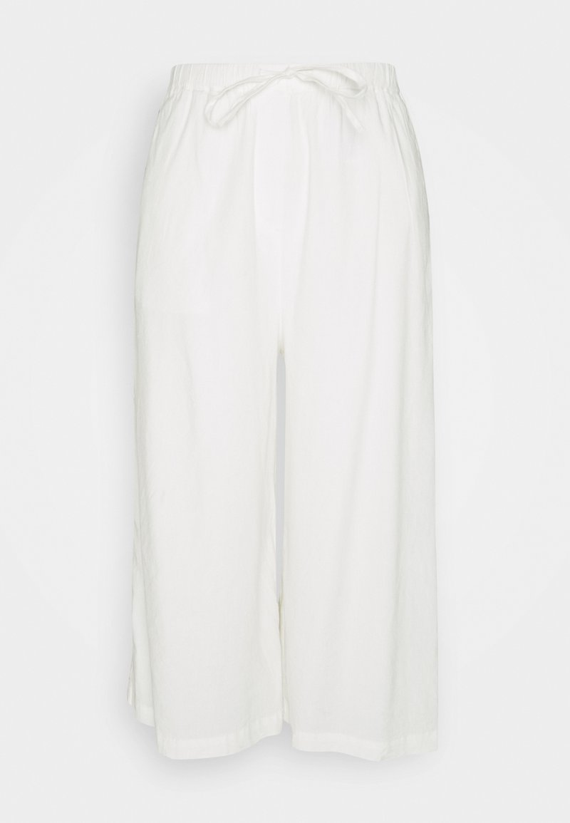 Marc O'Polo - PANTS CULOTTE STYLE WIDE LEG DETAILED WAISTBAND - Trousers - white