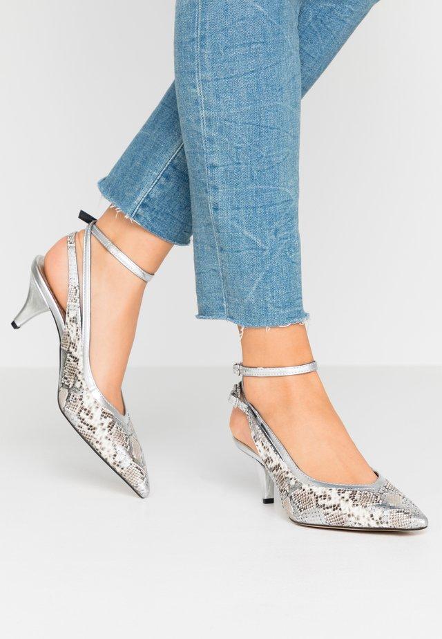 Classic heels - joya/metal roccia/argento