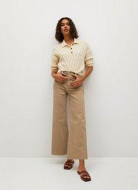 Mango - Trousers - open beige - 1