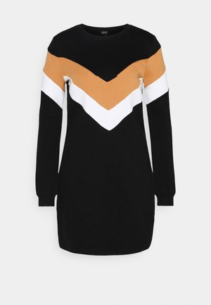 ONLDAKOTA O NECK DRESS - Kjole - black/hazel/bright white