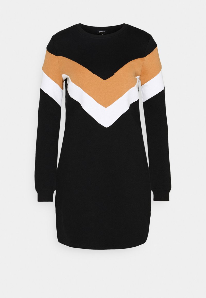 ONLY - ONLDAKOTA O NECK DRESS - Korte jurk - black/hazel/bright white