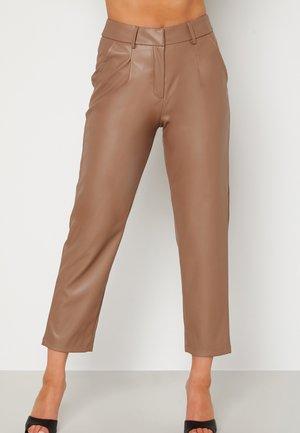UMA PU - Leather trousers - brown