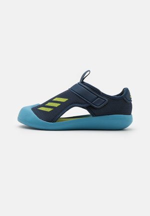 ALTAVENTURE UNISEX - Pool slides - crew navy/solar yellow/hazy blue