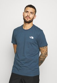 The North Face - MENS SIMPLE DOME TEE - T-shirt basic - blue wing teal - 0