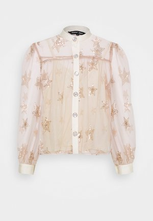STAR BURST SEQUIN BLOUSE - Blouse - pink