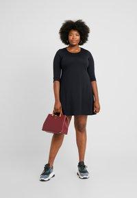 CAPSULE by Simply Be - LONG SLEEVE SWING DRESS - Jersey dress - black - 1