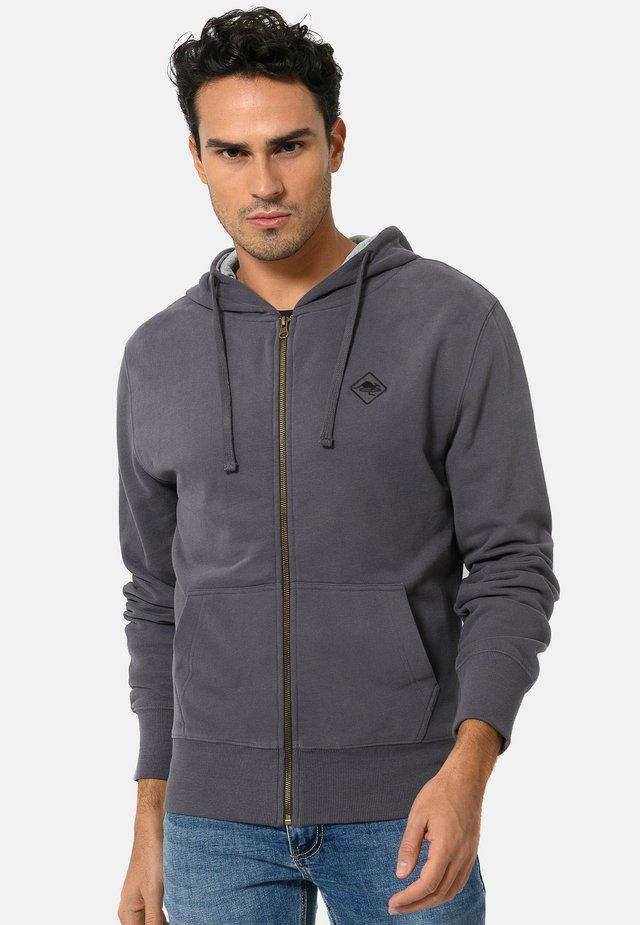 Zip-up hoodie - carbon grey\black