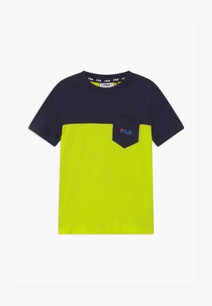 MARCO BLOCKED  - Print T-shirt - lime popsicle/black iris