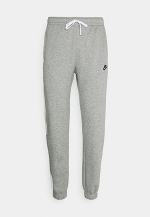 Tracksuit bottoms - dark grey heather/white/charcoal heather/black