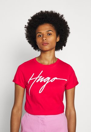THE SLIM TEE - Print T-shirt - bright red