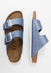 Birkenstock - ARIZONA - Tofflor & inneskor - icy metallic/azure blue - 3