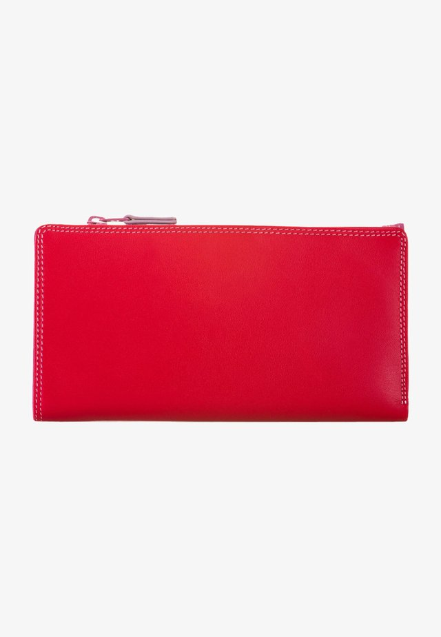WALLET ZIPPED CENTRE - Wallet - ruby