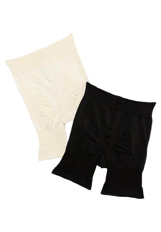 2 PACK - Shapewear - schwarz/champagner